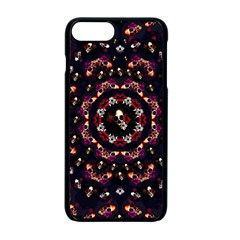 Floral Skulls In The Darkest Environment Apple Iphone 7 Plus Seamless Case (black) by pepitasart
