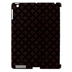 Circles3 Black Marble & Dark Brown Wood Apple Ipad 3/4 Hardshell Case (compatible With Smart Cover) by trendistuff