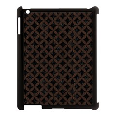 Circles3 Black Marble & Dark Brown Wood (r) Apple Ipad 3/4 Case (black) by trendistuff