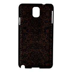 Damask2 Black Marble & Dark Brown Wood Samsung Galaxy Note 3 N9005 Hardshell Case by trendistuff