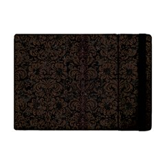 Damask2 Black Marble & Dark Brown Wood (r) Apple Ipad Mini Flip Case