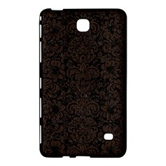 Damask2 Black Marble & Dark Brown Wood (r) Samsung Galaxy Tab 4 (7 ) Hardshell Case  by trendistuff