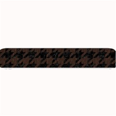 Houndstooth1 Black Marble & Dark Brown Wood Small Bar Mats by trendistuff