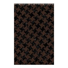 Houndstooth2 Black Marble & Dark Brown Wood Shower Curtain 48  X 72  (small)  by trendistuff