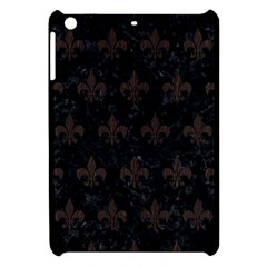 Royal1 Black Marble & Dark Brown Wood Apple Ipad Mini Hardshell Case by trendistuff