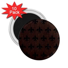 Royal1 Black Marble & Dark Brown Wood (r) 2 25  Magnets (10 Pack)  by trendistuff