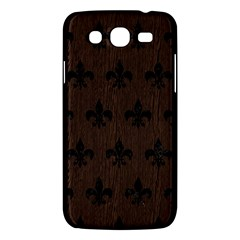 Royal1 Black Marble & Dark Brown Wood (r) Samsung Galaxy Mega 5 8 I9152 Hardshell Case  by trendistuff