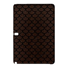 Scales1 Black Marble & Dark Brown Wood Samsung Galaxy Tab Pro 10 1 Hardshell Case