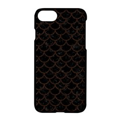 Scales1 Black Marble & Dark Brown Wood (r) Apple Iphone 8 Hardshell Case by trendistuff