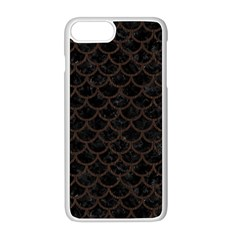 Scales1 Black Marble & Dark Brown Wood (r) Apple Iphone 8 Plus Seamless Case (white) by trendistuff