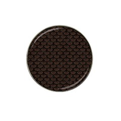Scales3 Black Marble & Dark Brown Wood Hat Clip Ball Marker (4 Pack) by trendistuff