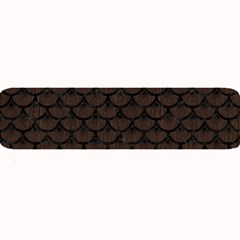 Scales3 Black Marble & Dark Brown Wood Large Bar Mats