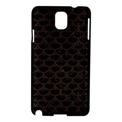 Scales3 Black Marble & Dark Brown Wood (r) Samsung Galaxy Note 3 N9005 Hardshell Case by trendistuff