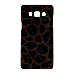 Skin1 Black Marble & Dark Brown Wood Samsung Galaxy A5 Hardshell Case  by trendistuff