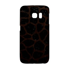 Skin1 Black Marble & Dark Brown Wood Galaxy S6 Edge