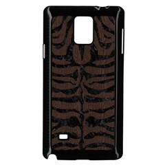 Skin2 Black Marble & Dark Brown Wood Samsung Galaxy Note 4 Case (black) by trendistuff