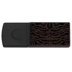 Skin2 Black Marble & Dark Brown Wood (r) Rectangular Usb Flash Drive by trendistuff