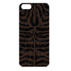 Skin2 Black Marble & Dark Brown Wood (r) Apple Iphone 5 Seamless Case (white) by trendistuff