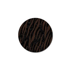 Skin3 Black Marble & Dark Brown Wood (r) Golf Ball Marker (10 Pack) by trendistuff