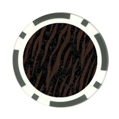 Skin3 Black Marble & Dark Brown Wood (r) Poker Chip Card Guard (10 Pack) by trendistuff