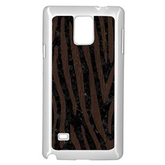 Skin4 Black Marble & Dark Brown Wood Samsung Galaxy Note 4 Case (white) by trendistuff