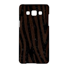 Skin4 Black Marble & Dark Brown Wood Samsung Galaxy A5 Hardshell Case  by trendistuff