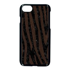 Skin4 Black Marble & Dark Brown Wood Apple Iphone 7 Seamless Case (black) by trendistuff
