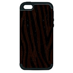 Skin4 Black Marble & Dark Brown Wood (r) Apple Iphone 5 Hardshell Case (pc+silicone)