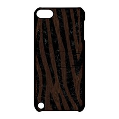 Skin4 Black Marble & Dark Brown Wood (r) Apple Ipod Touch 5 Hardshell Case With Stand by trendistuff