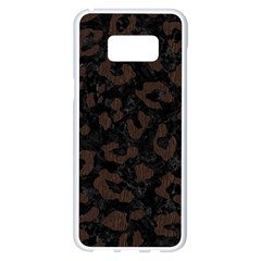 Skin5 Black Marble & Dark Brown Wood Samsung Galaxy S8 Plus White Seamless Case by trendistuff