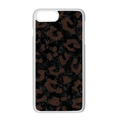 Skin5 Black Marble & Dark Brown Wood Apple Iphone 8 Plus Seamless Case (white) by trendistuff