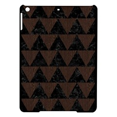 Triangle2 Black Marble & Dark Brown Wood Ipad Air Hardshell Cases by trendistuff