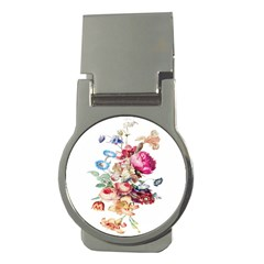 Fleur Vintage Floral Painting Money Clips (round)  by Celenk
