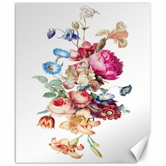 Fleur Vintage Floral Painting Canvas 8  X 10  by Celenk