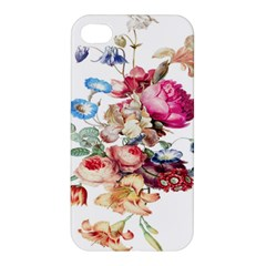 Fleur Vintage Floral Painting Apple Iphone 4/4s Premium Hardshell Case by Celenk