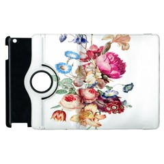 Fleur Vintage Floral Painting Apple Ipad 2 Flip 360 Case by Celenk