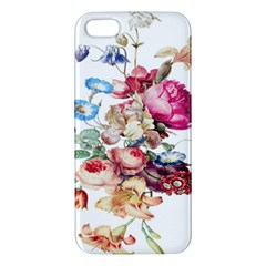Fleur Vintage Floral Painting Apple Iphone 5 Premium Hardshell Case by Celenk