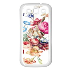 Fleur Vintage Floral Painting Samsung Galaxy S3 Back Case (white) by Celenk