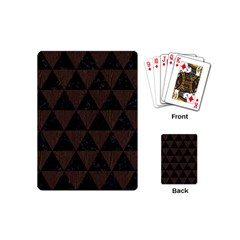 Triangle3 Black Marble & Dark Brown Wood Playing Cards (mini)  by trendistuff