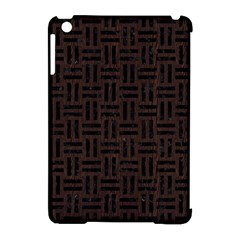 Woven1 Black Marble & Dark Brown Wood Apple Ipad Mini Hardshell Case (compatible With Smart Cover) by trendistuff