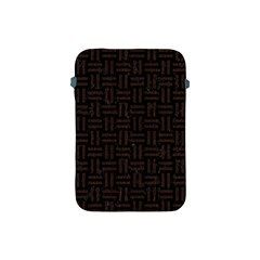 Woven1 Black Marble & Dark Brown Wood (r) Apple Ipad Mini Protective Soft Cases by trendistuff