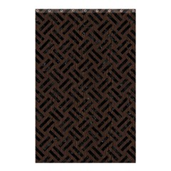 Woven2 Black Marble & Dark Brown Wood Shower Curtain 48  X 72  (small)  by trendistuff