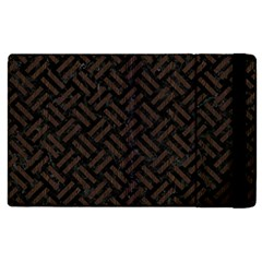 Woven2 Black Marble & Dark Brown Wood (r) Apple Ipad 3/4 Flip Case by trendistuff