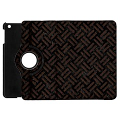 Woven2 Black Marble & Dark Brown Wood (r) Apple Ipad Mini Flip 360 Case by trendistuff