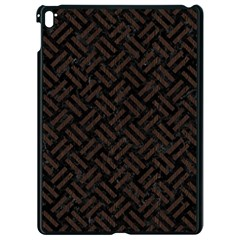 Woven2 Black Marble & Dark Brown Wood (r) Apple Ipad Pro 9 7   Black Seamless Case by trendistuff