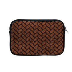 Brick2 Black Marble & Dull Brown Leather Apple Macbook Pro 13  Zipper Case by trendistuff
