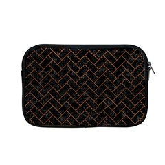 Brick2 Black Marble & Dull Brown Leather (r) Apple Macbook Pro 13  Zipper Case