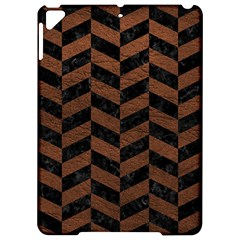 Chevron1 Black Marble & Dull Brown Leather Apple Ipad Pro 9 7   Hardshell Case by trendistuff