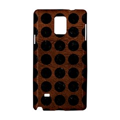 Circles1 Black Marble & Dull Brown Leather Samsung Galaxy Note 4 Hardshell Case by trendistuff
