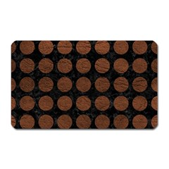 Circles1 Black Marble & Dull Brown Leather (r) Magnet (rectangular) by trendistuff